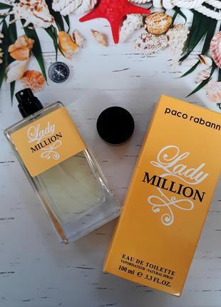 Женская туалетная вода Paco Rabanne Lady Million - 100 мл