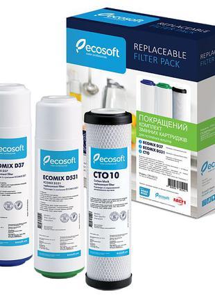 Улучшенный комплект картриджей Ecosoft к тройному фильтру для ...