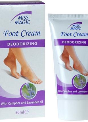 Дезодорирующий крем для ног с камфорой и маслом лаванды