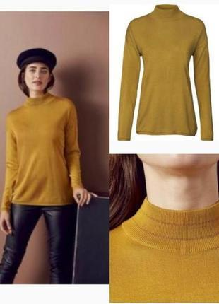 Уценка лёгкий свитер джемпер горчичного цвета р. евро 40-42 м ...