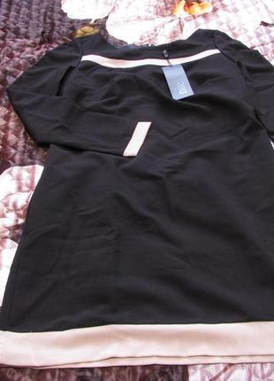 Платье женское черного с бежевым цвета польского бренда nife