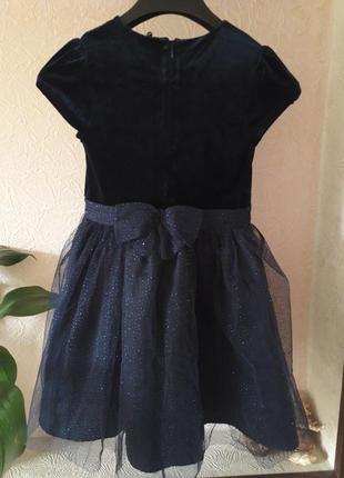 Бархатное нарядное праздничное выпускное платье на девочку фат...