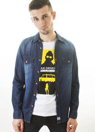 Джинсовая рубашка мужская jack south