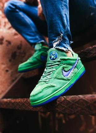 Кроссовки найк nike sb dunk low x grateful dead green blue