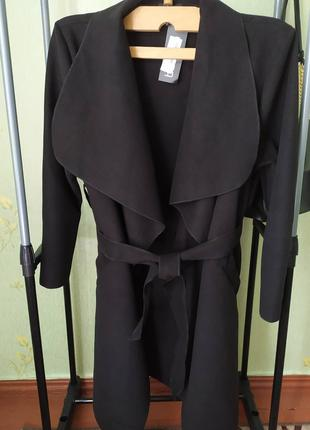 Осенне-весеннее пальто-халат под пояс от Boohoo