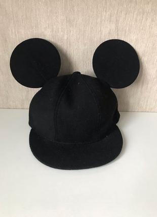 Женская кепка с ушками/кепка-микимаус