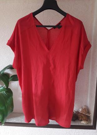 Mango suit женская блузка туника свободный крой комбинированна...