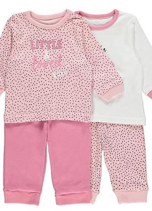 Набор детских пижам george (2 шт.) на 1,5-2 года