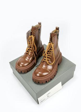 Ботинки на высокой подошве со змейкой balenciaga tractor brown...