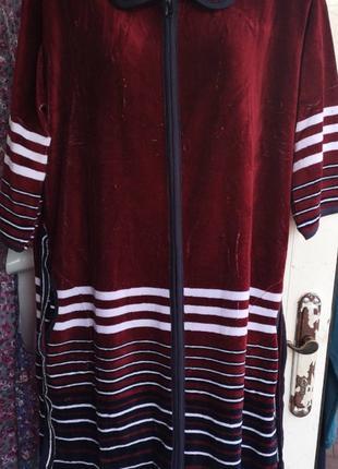 Велюровый халат 50 размер