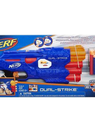 Бластер Nerf N-Strike Elite DualStrike Blaster Нерф. Оригинал