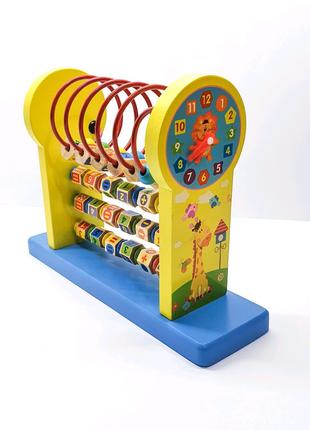 Развивающая обучающая деревянная игрушка, развивающий центр
