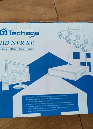 Комплект WiFi видеонаблюдения Techage На 4 камеры.