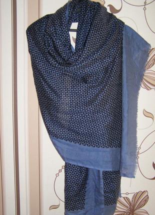 Большой шарф, палантин ххл beck sondergaard шерсть+шелк