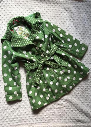 Тренч,зелёный плащ в горох, пальтишко, плащ next
