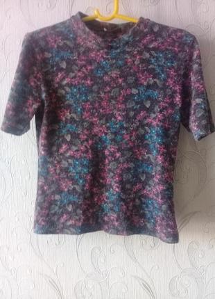 Стильный ангоровый свитерок fb короткий рукав