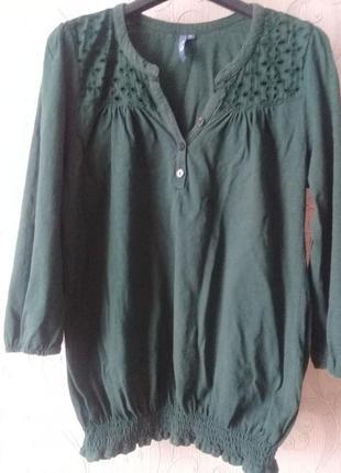 Классная трикотажная блуза котон прошва