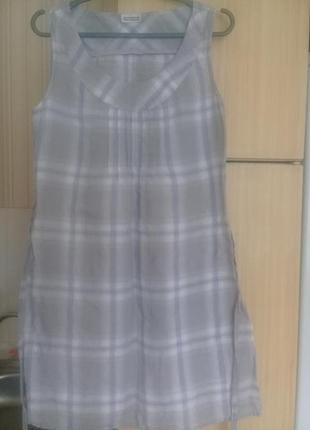 Льняное женское платье миди