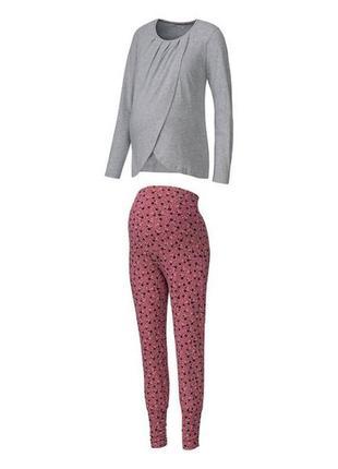 Нежная пижамка/домашний костюм для беременных и кормящих esmar...