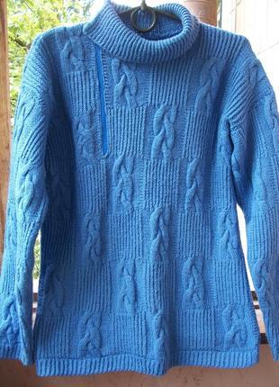 Классный вязаный свитер ручная работа
