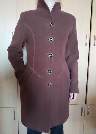 Кашемировое пальто насыщенного шоколадного цвета