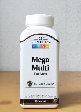 Витамины для мужчин,Mega Multi, 21st Century, 90 шт