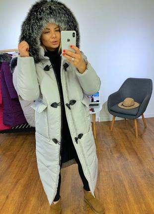 Куртка зимняя длинная, пуховик зимний длинный, пуховик