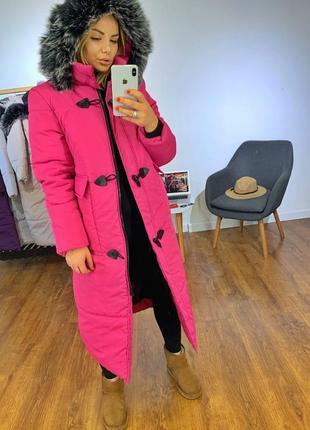 Зимний пуховик, зимняя куртка, удлиненный пуховик