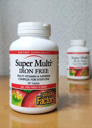 Комплекс витаминов и минералов, Natural Factors, 90 таблеток