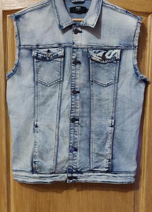 Black premium мужская джинсовая жилетка