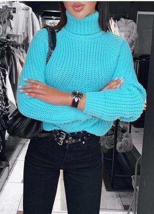 Женский обьемный вязаный свитер