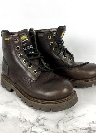 Ботинки кожаные blackstone, shockabsorb, коричневые