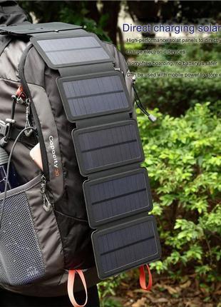Power Bank Солнечное Зарядное Смартфон зарядка Батарея 5 Панель