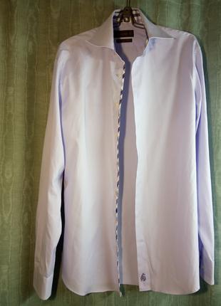 Jacques Britt. Рубашка мужская, бледно-сиреневая.