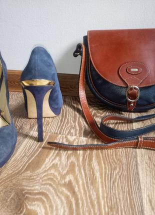 Туфли женские синий замш Zara Woman