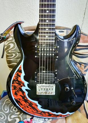 Продам электрогитару  Ibanez Gio GAX 30 Black со скалопом