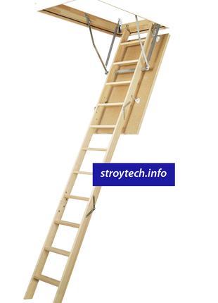Лестница чердачная деревянная LWS Plus для маленьких помещений