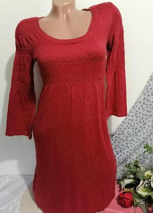 Платье -туника вязаная женская h&m размер s