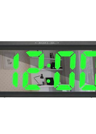 Зеркальные LED часы с будильником и термометром DT-6508
