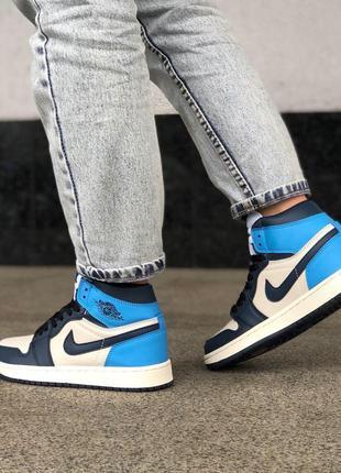Хит сезона nike jordan 1 retro blue найк джордан ретро синие