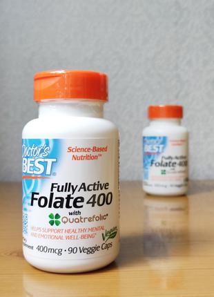 Активный фолат, метилфолат, 400 мкг, Doctor´s Best, 90 капсул