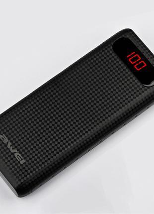 Power Bank AWEI 20000 mAh P70K внешний аккумулятор с LCD-дисплеем