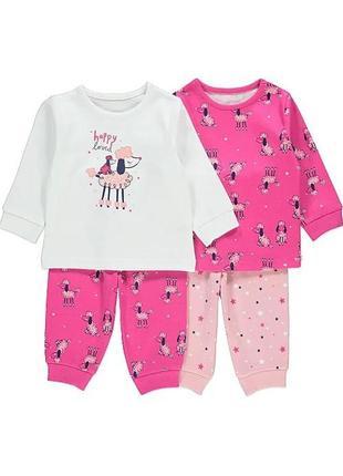 Набор детских пижам george (2 шт.) на 2-3 года