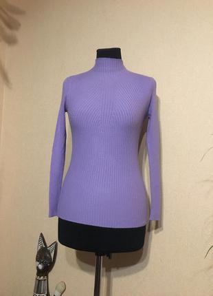 Нежный гольф в рубчик водолазка свитер