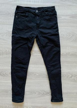 Черные джинсы skinny скини с высокой посадкой l
