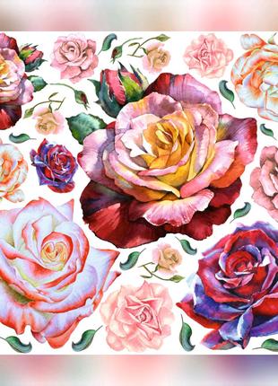 """Интерьерные наклейки - """"Розы"""""""