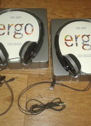 Наушники ERGO VD-207, НОВЫЕ, НО есть ньюансик в Запорожье 135 грн
