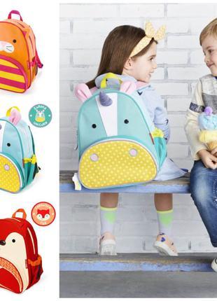 Детский рюкзак skip hop zoo единорог, котик, лисичка