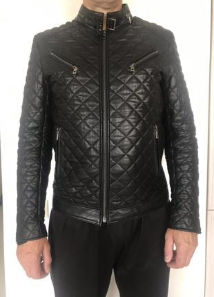 Кожаная утепленная куртка LAGERFELD