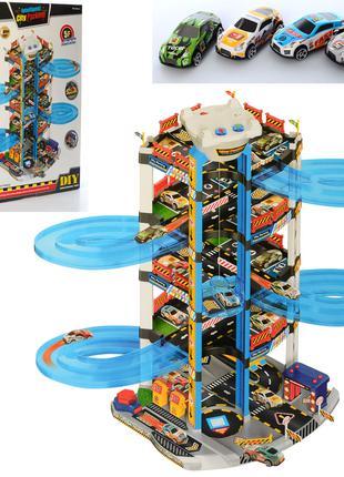 Детский игровой гараж парковка A333-251B, звук,свет,размер 59-82-